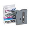 TX Tape Cartridge for PT-8000, PT-PC, PT-30/35, 1/2w, Black on White