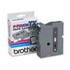 TX Tape Cartridge for PT-8000, PT-PC, PT-30/35, 1w, Black on White