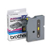 TX Tape Cartridge for PT-8000, PT-PC, PT-30/35, 1/2w, Black on Yellow