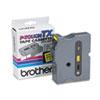 TX Tape Cartridge for PT-8000, PT-PC, PT-30/35, 1w, Black on Yellow