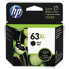 63XL Ink Cartridge, Black (F6U64AN)