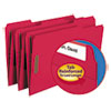 Folders, Two Fasteners, 1/3 Cut Assorted, Top Tab, Legal, Red, 50/Box