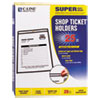 Shop Ticket Holders, Stitched, Both Sides Clear, 50 Sheet Capacity, 8-1/2 x 11, 25/BX