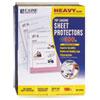 """Heavyweight Polypropylene Sheet Protector, Clear, 2"""", 11 x 8 1/2"""