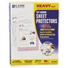 """Heavyweight Polypropylene Sheet Protector, Clear, 2"""", 11 x 8 1/2, 50/BX"""