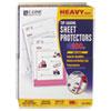"""Heavyweight Polypropylene Sheet Protector, Non-Glare, 2"""", 11 x 8 1/2, 100/BX"""