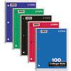 Coil-Lock Wirebound Notebooks, College/Medium, 11 x 8-1/2, White, 100 Sheets