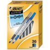 Round Stic Grip Xtra Comfort Ballpoint Pen, Black/Blue, 1.2mm, Medium, 36/Pack