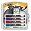 Low Odor & Bold Writing Dry Erase Marker, Chisel Tip, Assorted, 4/Pack