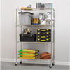 Alera(R) Commercial Medium-Duty Wire Shelving Kit with Casters
