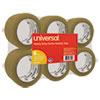 """General-Purpose Box Sealing Tape, 48mm x 54.8m, 3"""" Core, Tan, 6/Pack"""