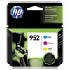 952 Ink Cartridges - Cyan, Magenta, Yellow, 3 Cartridges (N9K27AN)