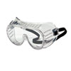 Safety Goggles, Over Glasses, Clear Lens, Direct Vent, Elastic Strap