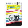 Tape Cassette for KL8000/KL8100/KL8200 Label Makers, 24mm x 26ft, Black on White