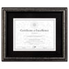 DAX(R) Antique Brushed Charcoal Wood Document Frame
