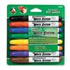 White System Dry Erase Marker, Chisel Tip, Assorted Colors, 8/Set