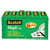 "Magic Tape Refill, 3/4"" x 1296"", 1"" Core, Clear, 6/Pack"