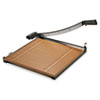 """Square Commercial Grade Wood Base Guillotine Trimmer, 15 Sheets, 18"""" x 18"""""""