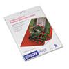 Premium Photo Paper, 68 lbs., High-Gloss, 8 x 10, 20 Sheets/Pack