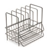 Wire Double Tray w/File Sorter, 7 Sect, Steel, 13 3/4 x 10 1/8 x 12 1/2, Black