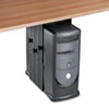 Under Desk CPU Holder, 17w x 12d x 11h, Black
