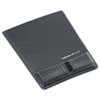 Memory Foam Wrist Support w/Attached Mouse Pad, Graphite