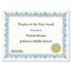 Award Certificates w/Gold Seals, 8-1/2 x 11, Unique Blue Border, 25/Pack