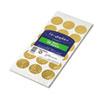 Self-Adhesive Embossed Seals, Gold, 54/Pack