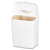 Wall Mount Sanitary Napkin Receptacle, Plastic, 1gal, White