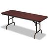 "Premium Wood Laminate Folding Table, Rectangular, 72"" w x 30"" d x 29"" h, Mahogany"