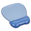 Gel Mouse Pad w/Wrist Rest, Nonskid Base, 8-1/4 x 9-5/8, Blue