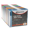 CD/DVD Polystyrene Thin Line Storage Case, Assorted Colors, 50/Pack