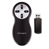 Wireless Presentation Remote, Integrated Laser Pointer, Projects 65 Feet, Black