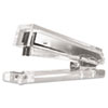Clear Acrylic Standard Stapler, 25-Sheet Capacity, Clear