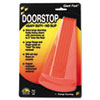 "Giant Foot Doorstop, No-Slip Rubber Wedge, 3-1/2""W x 6-3/4""D x 2""H, Safety Orange"