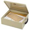 Jumbo Cash Box w/Lock, Sand