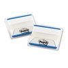 Tabs File Tabs, 2 x 1 1/2, Lined, Blue, 50/Pack