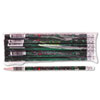 Decorated Wood Pencil, Teacher's Pencil, HB #2, Black Brl, Dozen