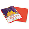 Construction Paper, 58 lbs., 9 x 12, Orange, 50 Sheets/Pack
