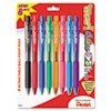 WOW! Retractable Ballpoint Pen, 1mm, Assorted Barrel, Assorted Ink, 8/Pack