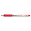 R.S.V.P. RT Retractable Ballpoint Pen, 1mm, Clear Barrel, Red Ink, Dozen