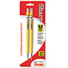 Sharp Mechanical Drafting Pencil, 0.9 mm, Yellow Barrel, 2/Pack