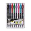 G2 Premium Retractable Gel Ink Pen, Assorted Ink, .7mm, 8/Set