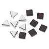Metallic Magnets, Black; Silver, 12/Pack