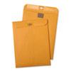 Postage Saving ClearClasp Kraft Envelopes, 6 x 9, Brown Kraft, 100/Box