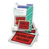 Full-Print Self-Adhesive Packing List Envelope, Orange, 5 1/2 x 4 1/2, 100/Box