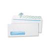 Redi-Strip® Single Window Security Tinted Evelopes, Contemporary, #10, White, 500/Box
