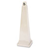 GroundsKeeper Cigarette Waste Collector, Pyramid, Plastic/Steel, Beige