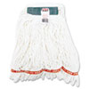 Web Foot Shrinkless Looped-End Wet Mop Head, Cotton/Synthetic, Medium, White