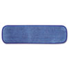 "Microfiber Wet Room Pad, Split Nylon/Polyester Blend, 18"", Blue, 12/Carton"